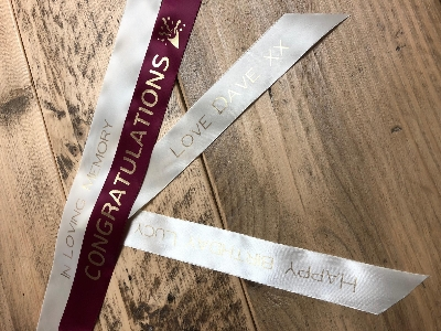 Personalised ribbon message