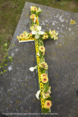 Yellow Casket Cross