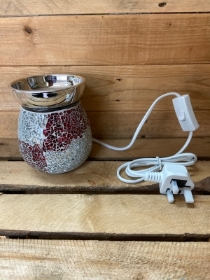 Red and Silver electric wax warmer